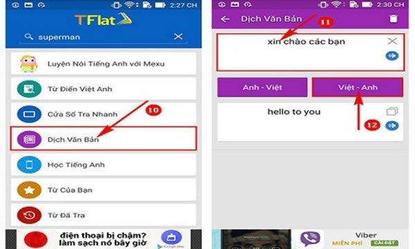 dịch tiếng Việt